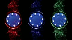 Poker Chip Blue Background 5 - HD1080 Stock Footage