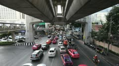 Timelapse of Bangkok traffic Stock Footage