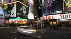 42nd Street, Times Square, Manhattan, New York, USA, T/lapse - stock footage