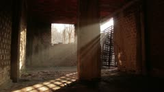 Old brick factory interior _4 Stock Footage