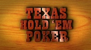 Stock Video Footage of Texas Hold 'em Poker Text and Wood - HD1080