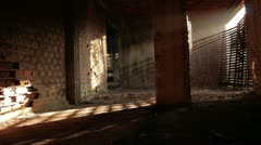 Old brick factory interior _5 Stock Footage