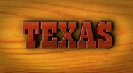 Stock Video Footage of Texas Text and Wood - HD1080
