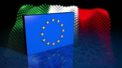 European Debt Crisis - Italy - EU 03 (HD) Stock Footage