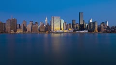Skyline of Midtown Manhattan, New York, USA, T/lapse  Stock Footage