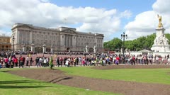 Buckingham Palace wide London Summer Stock Footage