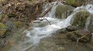 Rushing Mountain Creek - Handheld Stock Footage