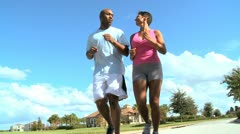 African American Female with Personal Trainer Stock Footage