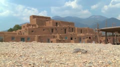 The Taos pueblo in New Mexico. Stock Footage