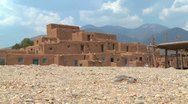 Stock Video Footage of The Taos pueblo in New Mexico.