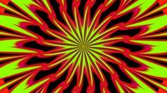 Pulsating Psychedelic Loop 01B 24 fps - stock footage