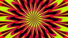 Pulsating Psychedelic Loop 01A 24 fps - stock footage