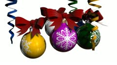 Chrismas ball - stock footage