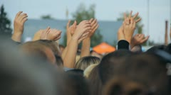 fans, the crowd, people - stock footage