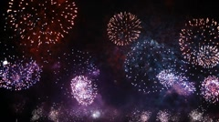 HD - Fireworks festival Stock Footage