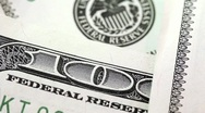 Stock Video Footage of One hundred dollars. Federal Reserve System sign