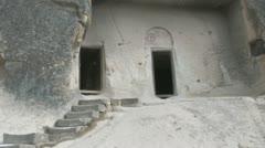 Cave home doors Stock Footage