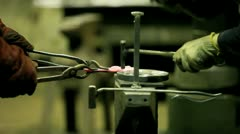 Work of a blacksmith Stock Footage