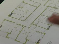 Booklet with apartment layout of sell flats. - stock footage