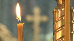 Church icon lamp 2 Stock Footage