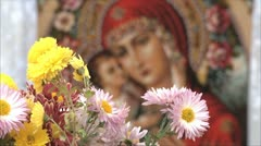 Icon of the saint Stock Footage