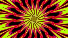 Pulsating Psychedelic Loop 01C 25 fps Stock Footage