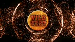 Wild West Wood Text in Particle 1 - HD1080 Stock Footage