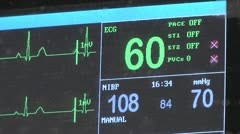 EKG, ECG, Heart Monitor Stock Footage