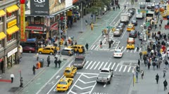 Traffic intersection, Broadway, New York, USA, T/lapse Stock Footage