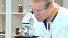 Medical Student Working with Sterile Equipment - stock footage