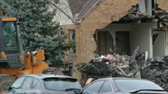 Gas Explosion Clean up - stock footage
