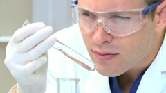 Medical Student in Hospital Laboratory - stock footage