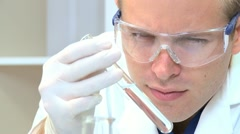 Male Medical Student in Laboratory - stock footage