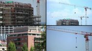 Crane in action composition Stock Footage