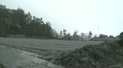 Volcanic Ash Fallout During Merapi Eruption Crisis Indonesia Stock Footage
