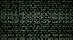 Numbers background. Stock Footage