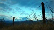 Rural sunset scene Stock Footage