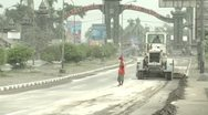 Stock Video Footage of Volcanic Ash Cleared From Streets During Eruption Crisis Indonesia