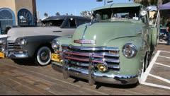 Santa Monica Pier: Classic car show Stock Footage
