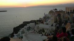 Sunset on Santorini Island Stock Footage