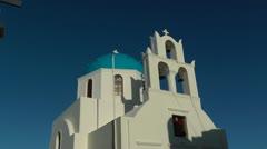 Church in Santorini island - Greece Stock Footage