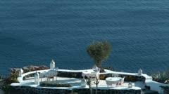 Restaurant in Santorini Stock Footage