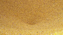Corn Empties out of Truck Bed (CU) Stock Footage