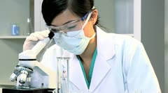 Student Medical Researcher  in Hospital Laboratory - stock footage