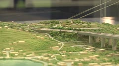 Maquette of Messina Bridge Stock Footage