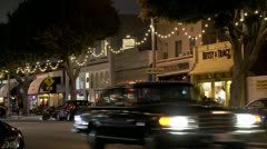 A Los Angeles street at night. - stock footage