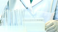 Medical Student Using Laboratory Equipment - stock footage