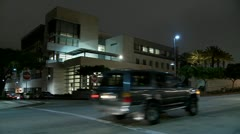 A police station at night. - stock footage