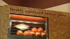 Orange juice mashine. Stock Footage