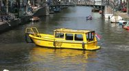 Canal Traffic in Amsterdam Stock Footage
